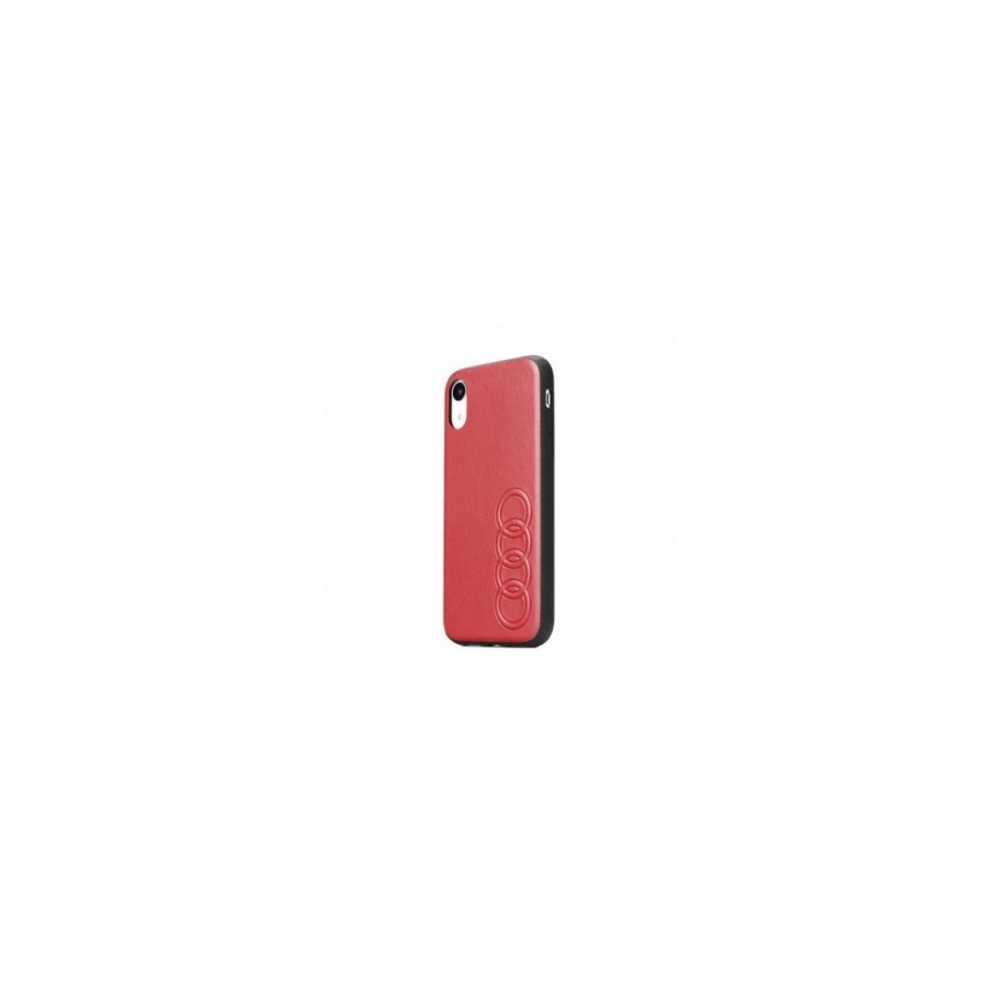 Étui en cuir AUDI Original AUDI sur le Apple iPhone 8 Plus Rouge